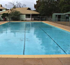 rechthoekige zwembad